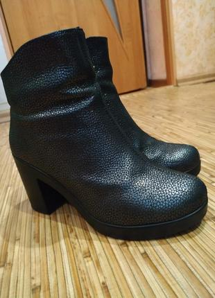 Полусапожки ботинки натуральная кожа ботильоны