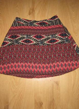 Летняя юбка миди naf-naf 46 м
