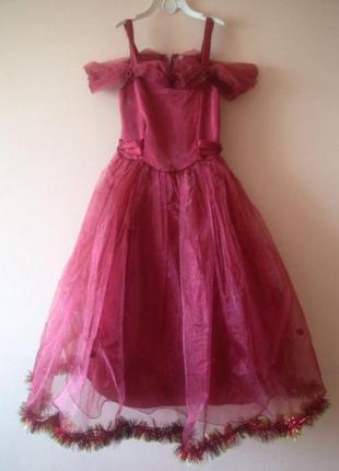 Платье пышное  марсала