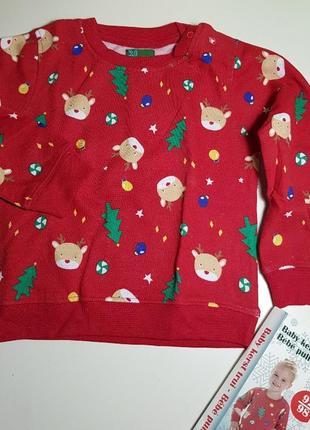 Красный новогодний рождественский свитер