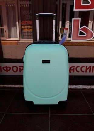 Доставка бесплатно! средний мятный чемодан качество! валіза середня мятна польша