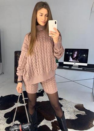 Шикарный теплый костюм