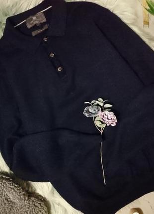 Базовый шерстяной джемпер с воротничком поло №29max