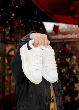 Зимние женские кроссовки alexander mcqueen white 36-37-38-39-40