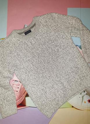 Тёплый свитер, кофта, серый для мальчика 3,4,5 лет next
