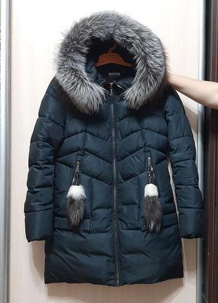 Зимняя куртка парка с натуральным мехом