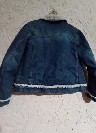 Джинсовая куртка на меху...