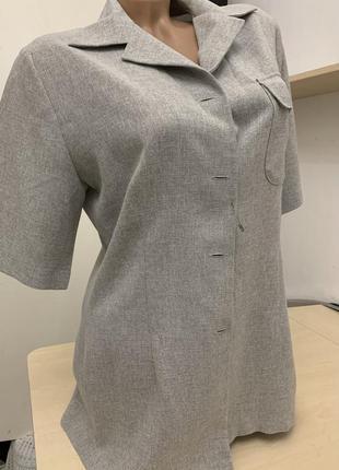 Наполовину натуральный пиджак-блуза