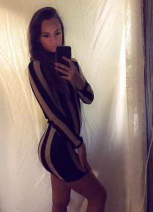 Платье нарядное сексуальное мини в сетку вечернее новогоднее