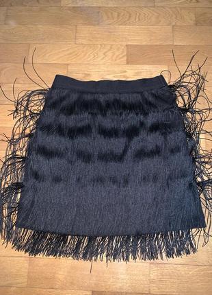 Юбка бахрома юбка с висюльками юбка платье бахрома кисточки
