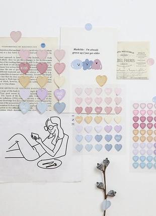 Наклейки сердечки стикеры стикерпак
