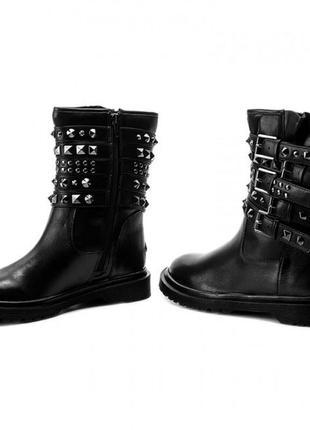 Пушка!оригинал,брендовые трендовые кожаные ботинки-сапоги guess