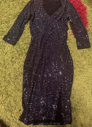 Платье в панику чёрное вечерние нарядное