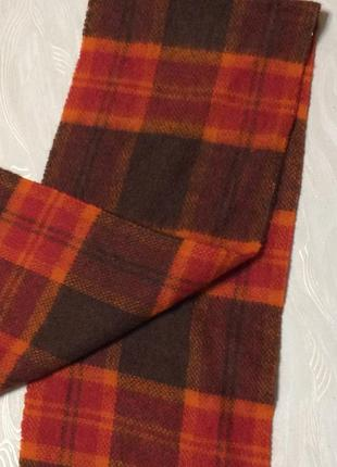 Теплый шерстяной шарф