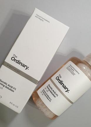 Обновляющий тоник с гликолевой кислотой 7% the ordinary glycolic acid 7%