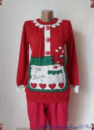 Фирменный atmosphere удлинённый свитер/туника в рождественский принт, размер с-ка