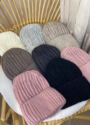 Тёплая шапка с флисом