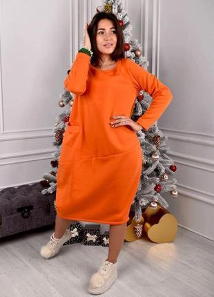 Платье-туника на флисе