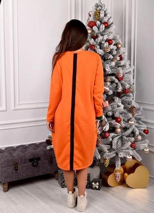Платье-туника на флисе6 фото