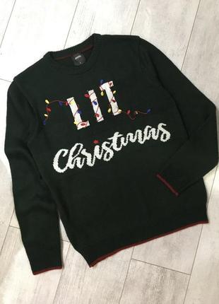 Финменный новогодний свитер размер с-м унисекс новый год