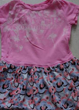 Фирменное хлопковое детское платье