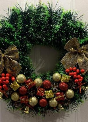 Рождественский венок різдвяний вінок новорічні прикраси