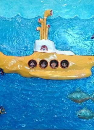 """Панно """"желтая подводная лодка"""""""