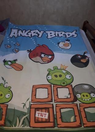 Пододеяльник постельное белье злые птички angry birds