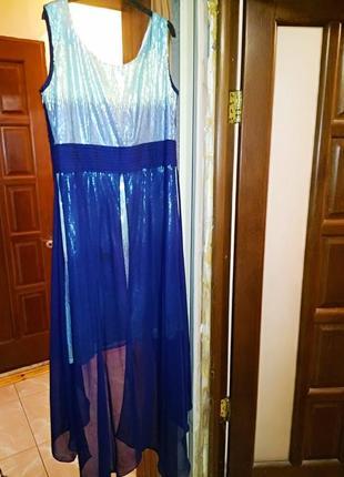 Блестящее платье большого размера батал