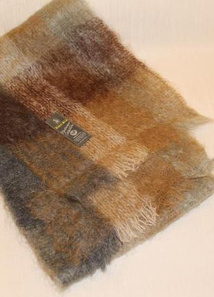 Шерстяной  мохеровый шарф roual scot винтаж ретро