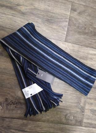 Мужской шарф, новый, marks & spencer, подарок, шерсть, теплый