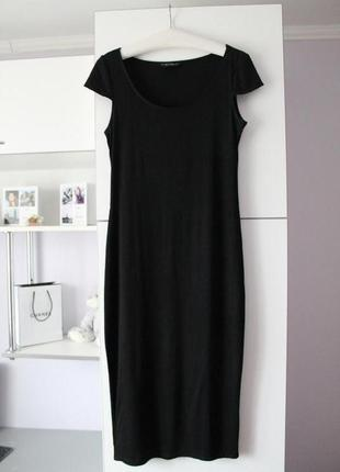 Чёрное миди  платье от dorothy perkins