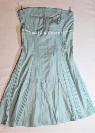 Xanaka платье  нежно-голубого цвета из структурного коттона с эластаном