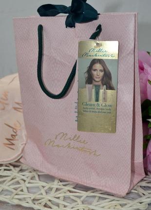 Фирменный подарочный косметический набор для тела с шиммером millie mackintosh gleam&glow