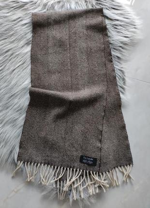 Шарф винтажный шерстяной брендовый guy laroche