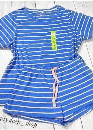 Хлопковая новая пижама в полоску primark