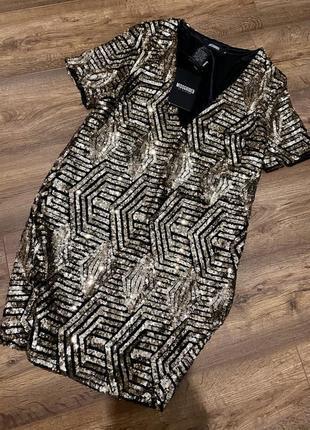 Нарядное платье в паетки missguided