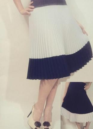 Эксклюзивная комбинированная юбка гофре