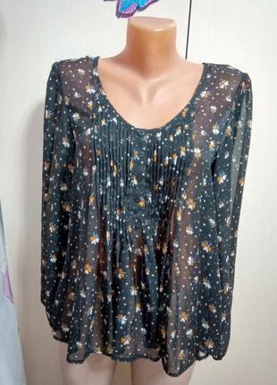 Блуза,кофта летняя в цветочек