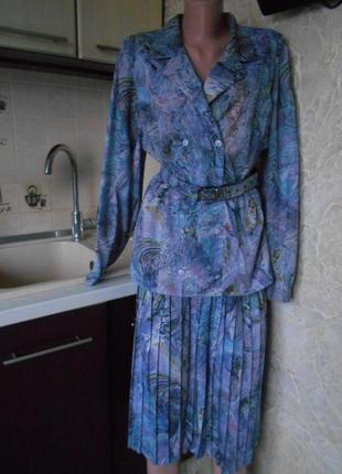 #распродажа #винтажное платье с поясом плиссе #