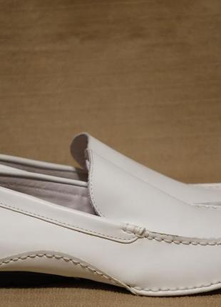 Отменные белые кожаные мокасины steve madden сша 11 р. ( 28,5 см.)