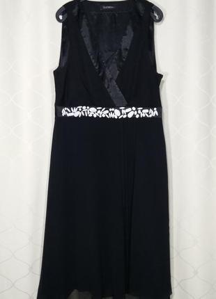 Шикарное вечернее платье чёрного цвета