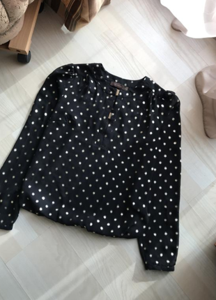 Красивая кофта блуза блузка в горошек the limited