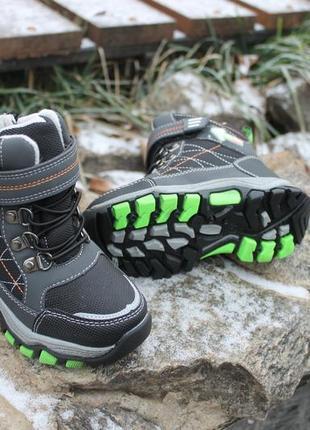 Ботинки на овчине зимние для мальчика/ термоботинки/ сапоги зимние термо