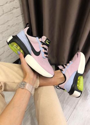 Женские шикарные кроссовки nike air max verona lilac / кожаные люкс качество
