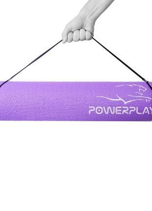 Килимок для фітнесу і йоги powerplay 4010, 183х61х0,6