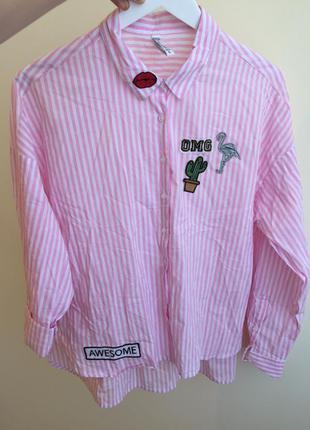 Рубашка fb sister с нашивками