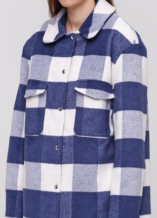 Зимнее пальто-рубашка. оверсайз