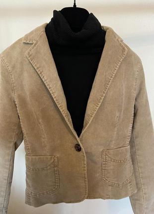Винтажный вельветовый пиджак