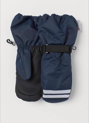 Лыжные теплые перчатки варежки h&m